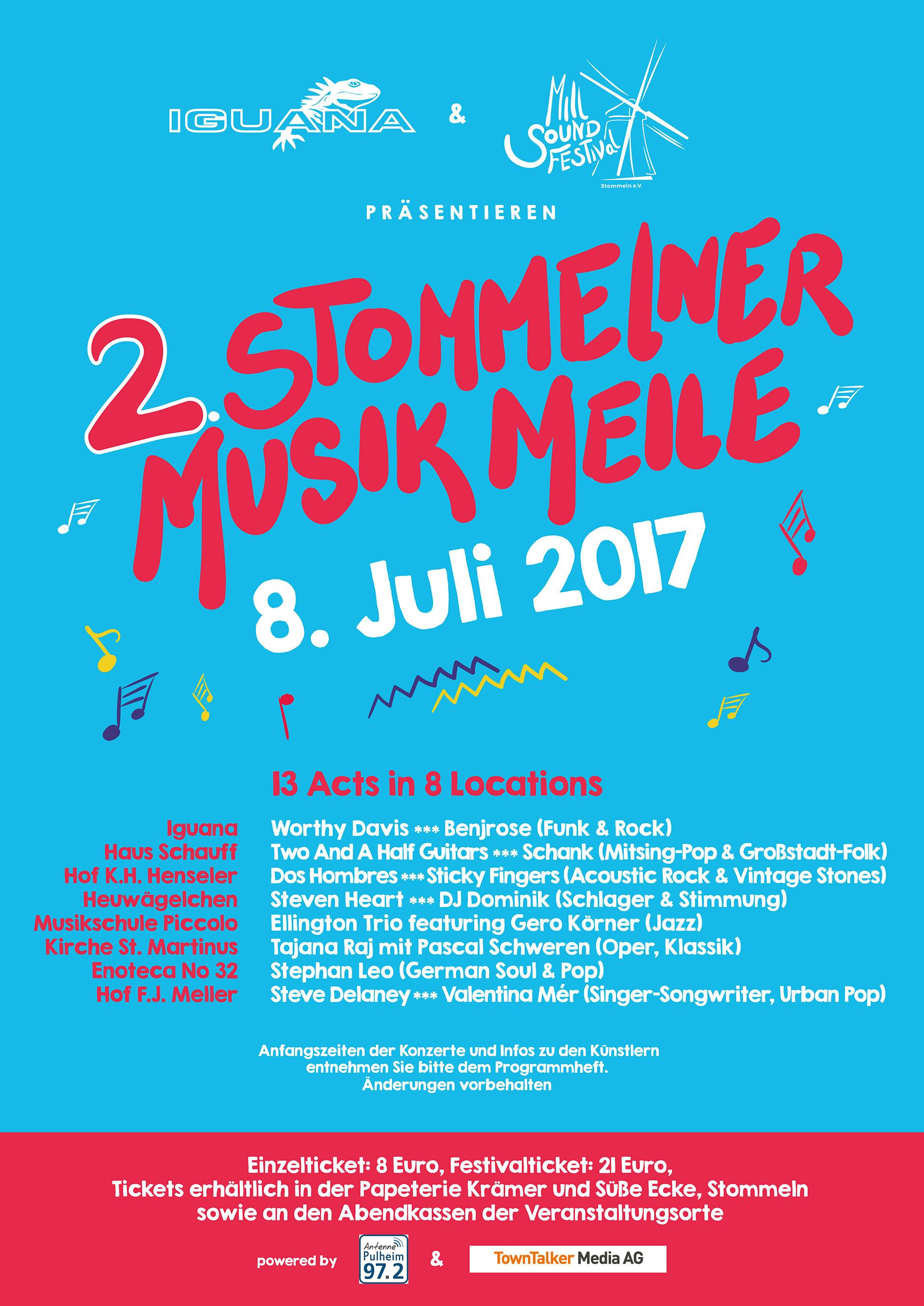 Mill Sound Festival Plakat 2017